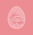 easter ornate egg frame vector image vector image