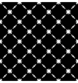 Elegant Black and White Flower Seamless Pattern vector image vector image