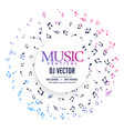 elegant music poster background with notes vector image