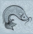 fish chinese vector image