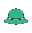 fisherman hat color icon vector image