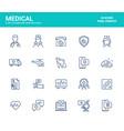 flat line icons design-medical vector image