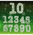 floral numbers collection vector image vector image