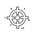 focus icon design vector image vector image