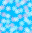 Fun seamless flower pattern vector image vector image