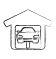 garage door mechanic vector image vector image