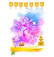 Goddess Durga in Happy Navratri vector image