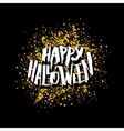 Happy Halloween greeting card with lettering vector image