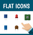 icon flat appliance set of mainframe recipient vector image vector image