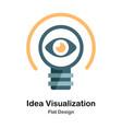 idea visualization flat icon vector image vector image