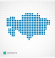 kazakhstan map and flag icon vector image vector image