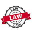 law stamp sign seal vector image