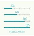 Linear loader bar vector image vector image