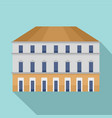 milan building icon flat style vector image