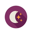 Moon and stars flat icon Meteorology Weather vector image