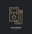 multimeter flat line icon electrician utility vector image