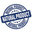 natural product blue grunge round vintage rubber vector image vector image