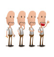 oldman cartoon character collection set vector image vector image