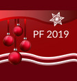 pf christmas greeting card design with realistic vector image vector image