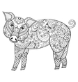 Pig Zentangle Pig Swine vector image