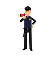 police officer character in a blue uniform vector image vector image