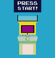 press start to play arcade vector image vector image