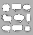retro oval and rectangle bam speech bubbles vector image vector image