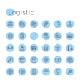 Round Logistic Icons vector image