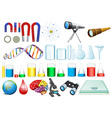 Science set vector image vector image