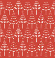 seamless pattern of white christmas trees vector image