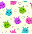 Seamless pattern with funny bunny faces vector image vector image