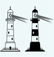 Set lighthouses vector image