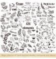 set of hand sketched doodles catchwords vector image