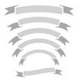 set ribbon banner vector image vector image
