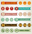 set ribbons and icons vector image vector image