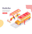 shuttle bus concept isometric design concept of vector image vector image