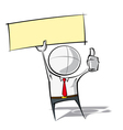 Simple Business People Thumbs Up Label vector image