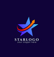 star logo design stock with arrow symbol in the vector image vector image