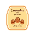 Sticker Cupcakes And Pastries vector image vector image