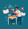 teacher with student concept vector image