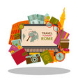 travel planning to rome flat concept vector image vector image