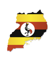 uganda africa map flag vector image