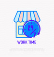work time opening hours for shop vector image