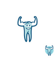 Tooth athlete symbol vector image