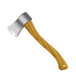 Axe with wooden handle vector image