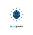 brain brainstorming idea icon vector image