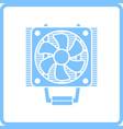 cpu fan icon vector image