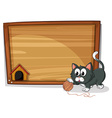 A board with a cat vector image vector image