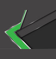 abstract green arrow gray metal shadow design vector image vector image