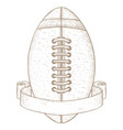 american football ball with banner hand drawn vector image